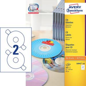 Avery Zweckform CD-Etiketten ClassicSize, blickdicht *),...