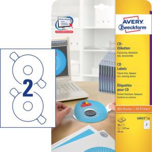 Avery Zweckform CD-Etiketten ClassicSize, blickdicht,...
