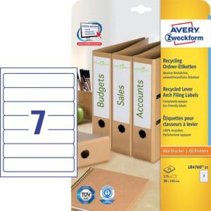 Avery Zweckform Ordner-Rückenschilder Recycling,...