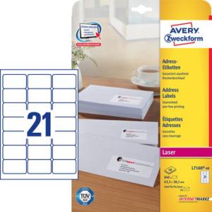 Avery Zweckform Adress-Etiketten QuickPEEL(TM) Laser+,...