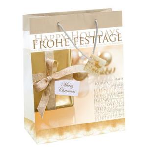 Sigel Geschenk-Taschen für Weihnachten, Gold...