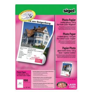 Sigel Farb-Laser-Papier Photo-Papier, 135 g/qm, 2-seitig...