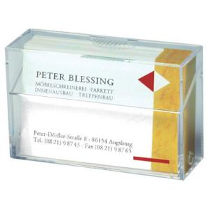 Visitenkarten-Box, 95x60x30mm, glasklar