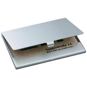 Visitenkarten-Etui, 92x63x5mm, silber, matt