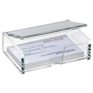 Sigel Visitenkarten-Box Acryl, 100x30x65mm, glasklar