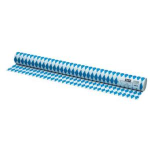 Tischtuch Papierrollen, Raute, 1 m / 10m, weiß/blau