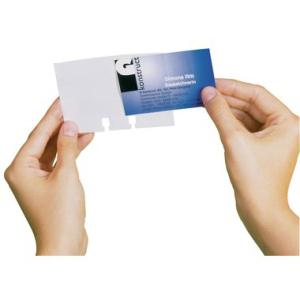 Durable Visitenkartenhüllen VISIFX, für 80...