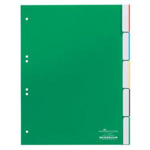 Durable Register blanko Kunststoff, 5 Blatt,...