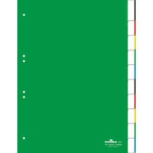 Durable Register blanko Kunststoff, 10 Blatt,...