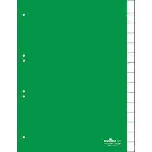 Durable Register blanko Kunststoff, 15 Blatt,...
