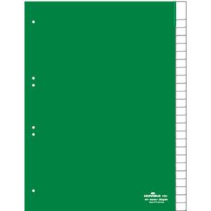 Durable Register blanko Kunststoff, 25 Blatt,...