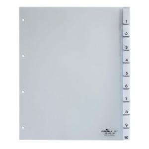 Durable Register überbreit Kunststoff, 10 Blatt,...
