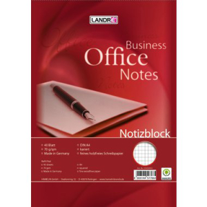 Landré Notizblock OFFICE, mit Spirale, A4,...