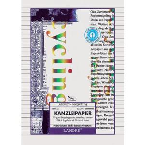 Landré Kanzleipapier Recycling, gefalzt, liniert...