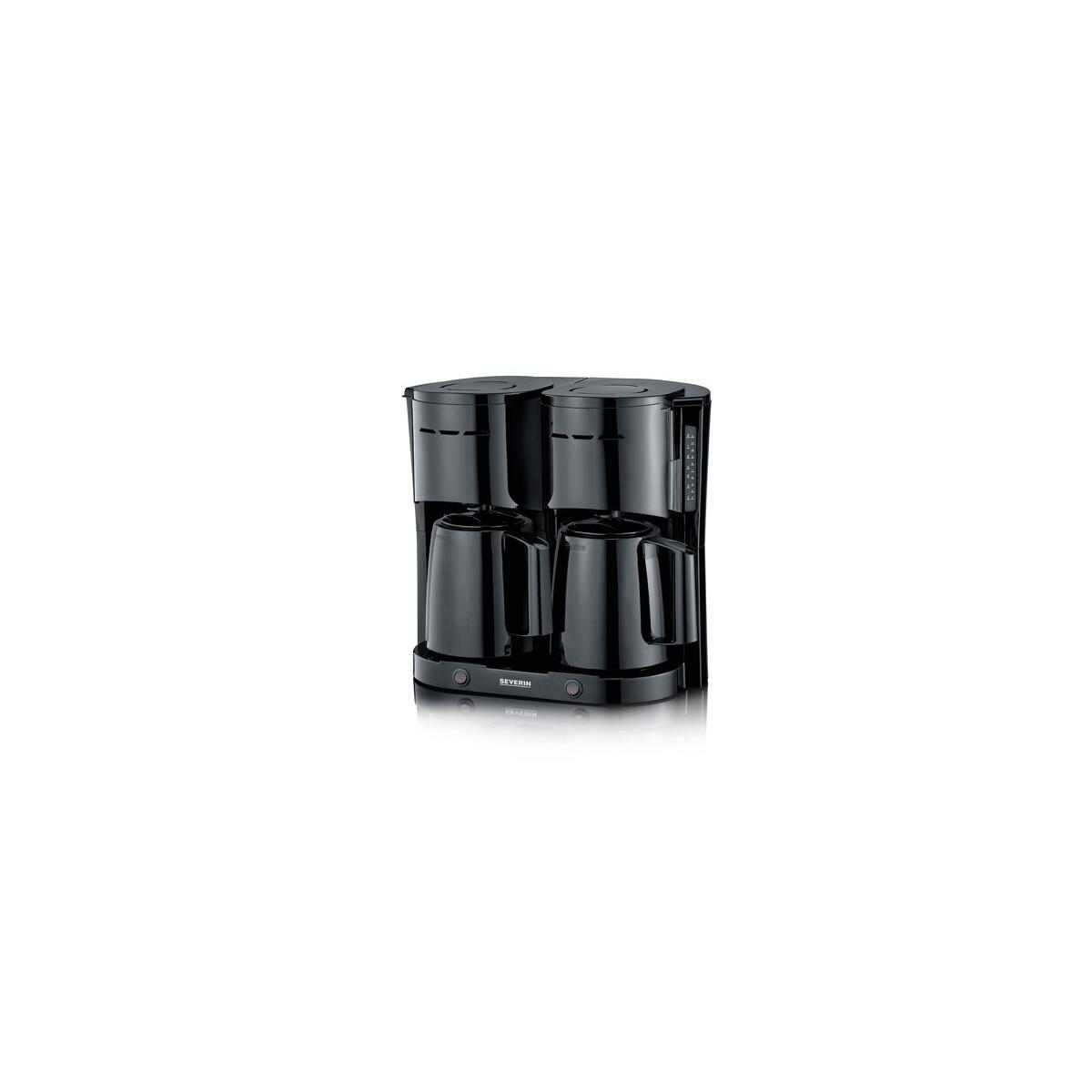 severin kaffeemaschine duo mit 2 thermoskannen f r 2x8. Black Bedroom Furniture Sets. Home Design Ideas