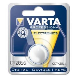 Varta Batterie Knopfzellen, IEC-Code CR2016, 3 V/90 mAh,...