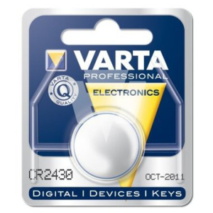 Varta Batterie Knopfzellen, IEC-Code CR2430, 3 V/280 mAh,...