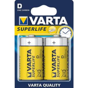 Varta Batterie Zink-Kohle, Mono 1,5 V, IEC-Code R20,...