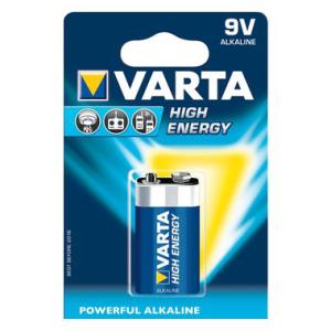 Varta Batterie Alkaline, IEC-Code 6LR61, Block 9,0 V,...