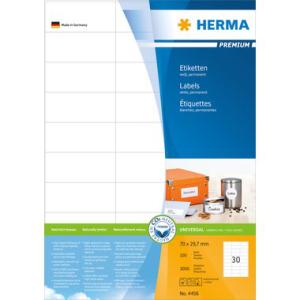 Herma 4456 PREMIUM Etiketten - DIN A4 - 70 x 29,7 mm -...