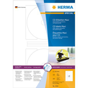 Herma 4460 SPECIAL CD-Etiketten - Ø 116 mm -...