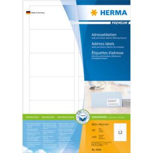 Herma 4666 PREMIUM Adressetiketten - DIN A4 - 88,9 x 46,6...