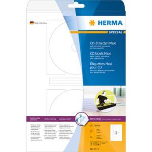 Herma 5115 SPECIAL CD-Etiketten - Ø 116 mm - Maxi...