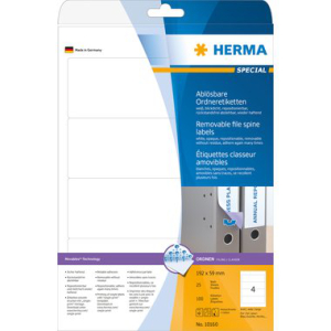 Herma 10160 SPECIAL Ordneretiketten - DIN A4 - 192 x 59...