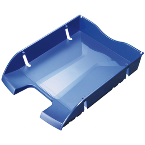 helit Briefkorb PET, 27,2x6,5x34,5cm, für A4, blau
