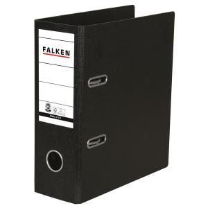 Falken Ordner A5 hoch S80 , Hartpappe, 80 mm, schwarz