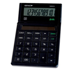 Genie Tischrechner ECO-Serie, Genie 305 ECO, 12-stelliges...