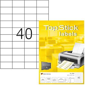 TopStick 8698 Universal-Etiketten - 52,5 x 29,7 mm -...