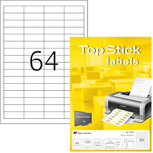 TopStick 8730 Universal-Etiketten - 48,3 x 16,9 mm -...