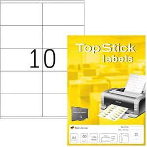 TopStick 8734 Universal-Etiketten - 105 x 57 mm - weiss -...