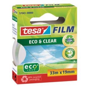 tesa tesafilm Eco & Clear - 33 m x 19 mm - transparent