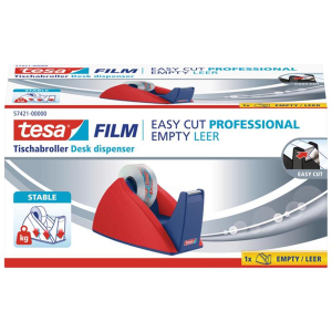 tesa Tischabroller bis 33mx19mm rot/blau Easy Cut leer
