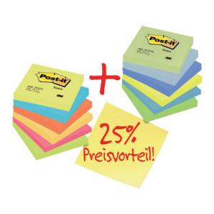 Post-it Haftnotiz Notes Promotion, 76x76mm, PG=12ST,...
