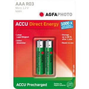 AGFA Akku NiMH, Micro, IEC-Code HR03, 950mAh, AAA, PG=2ST