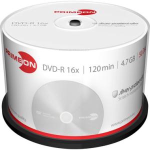 Primeon DVD Recordable DVD-R 4,7 GB, silver-protect-disc,...
