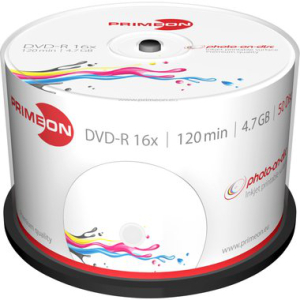 Primeon DVD Recordable DVD-R 4,7 GB, bedruckbar,...