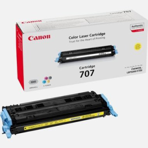 Canon 707 Orginal Lasertoner - yellow