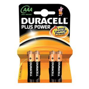 DURACELL Batterie PLUS Power, PG=4ST, Micro 1,5 V, MN2400...