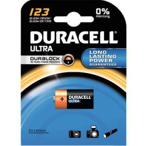 DURACELL Batterie Photo, 1400 mAH, USA-Code 123, IEC-Code...