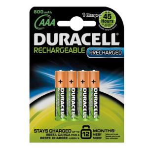 DURACELL Batterie Akkus DURACELL, HR3 800 mAh, USA-Code...
