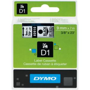 Dymo D1-Schriftband 9mm breit, 7m lang, black auf...