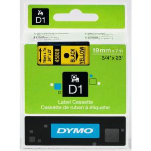 Dymo D1-Schriftband 19mm breit, 7m lang, black auf yellow