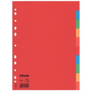 Esselte Register blanko Karton, 10 Blatt, A4, 160 g/qm,...