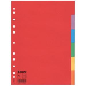 Esselte Register blanko Karton, 6 Blatt, A4, 160 g/qm,...