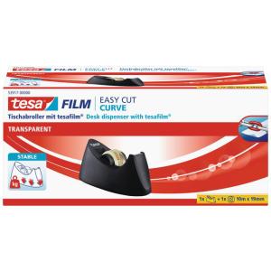 tesa Easy Cut Curve Tischabroller schwarz inkl. 1 Rolle...