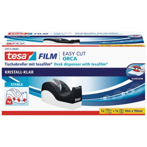 tesa Easy Cut Orca Tischabroller inkl. 1 Rolle tesafilm...